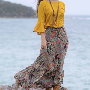 Sunset Bloom Skirt
