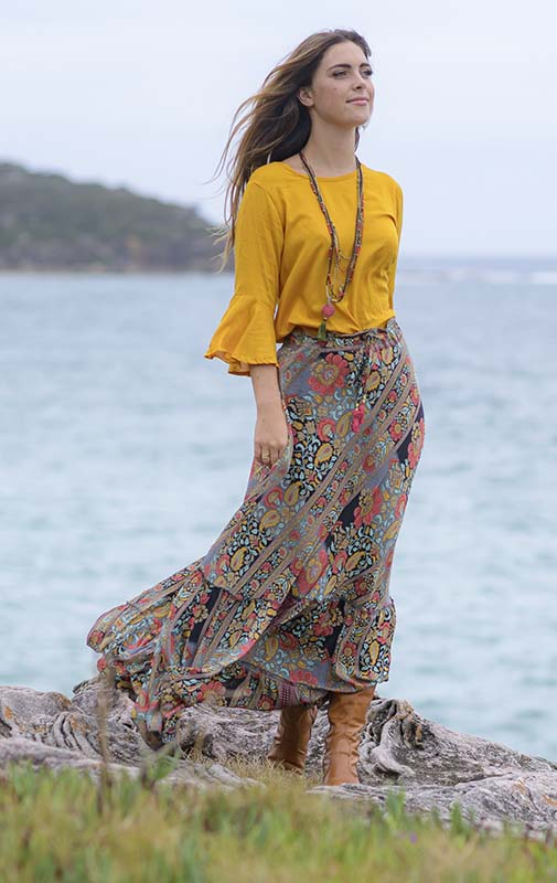Sunset Bloom Skirt