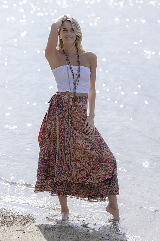 Gold Wrap Skirt