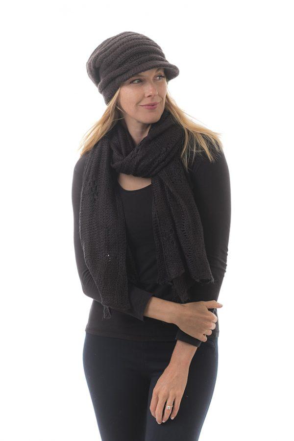 neck scarf black
