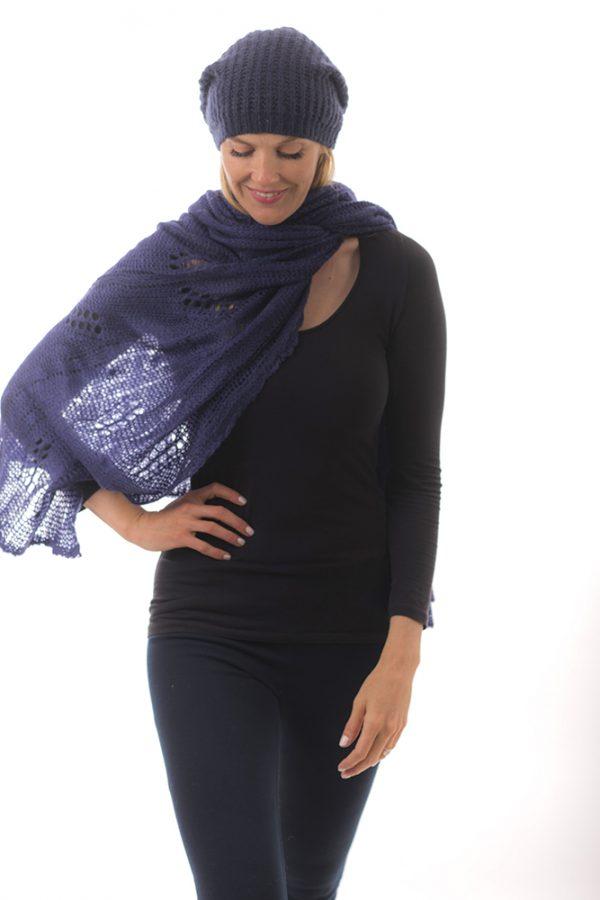 neck scarf navy
